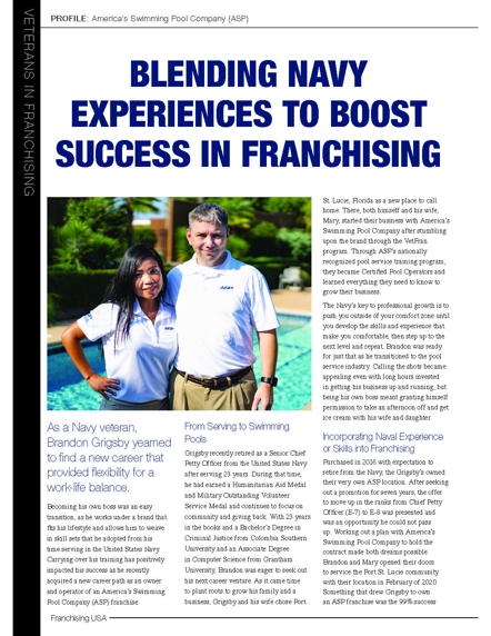 Veterans in Franchising Feature, ASP Owner, Brandon Grigsby